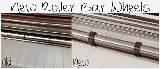 New roller bar wheels on the Silhouette Cameo give a gentler hold to protect delicate materials like foam and vinyl.