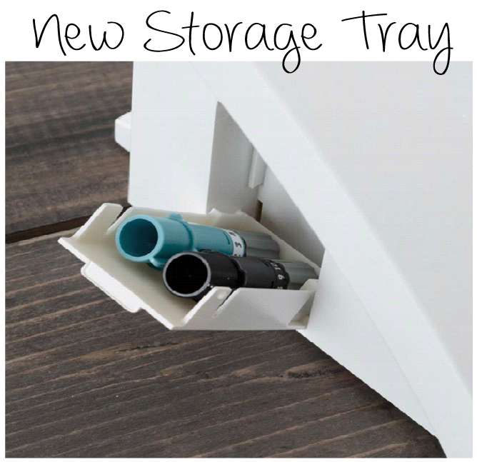 With the built in storage tray, you can store all your Silhouette Cameo blades or small accessories.