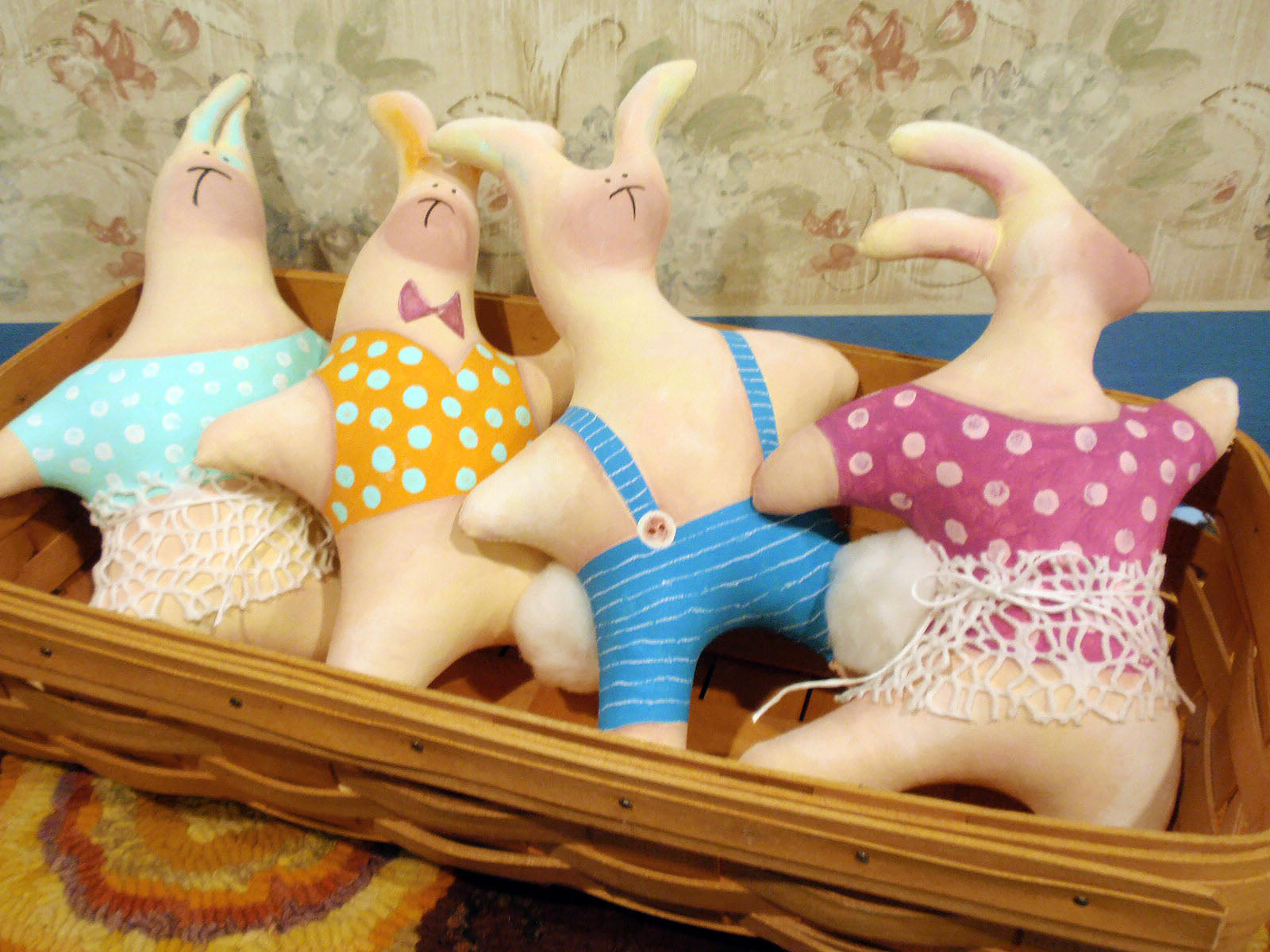 fabric bunnies completed