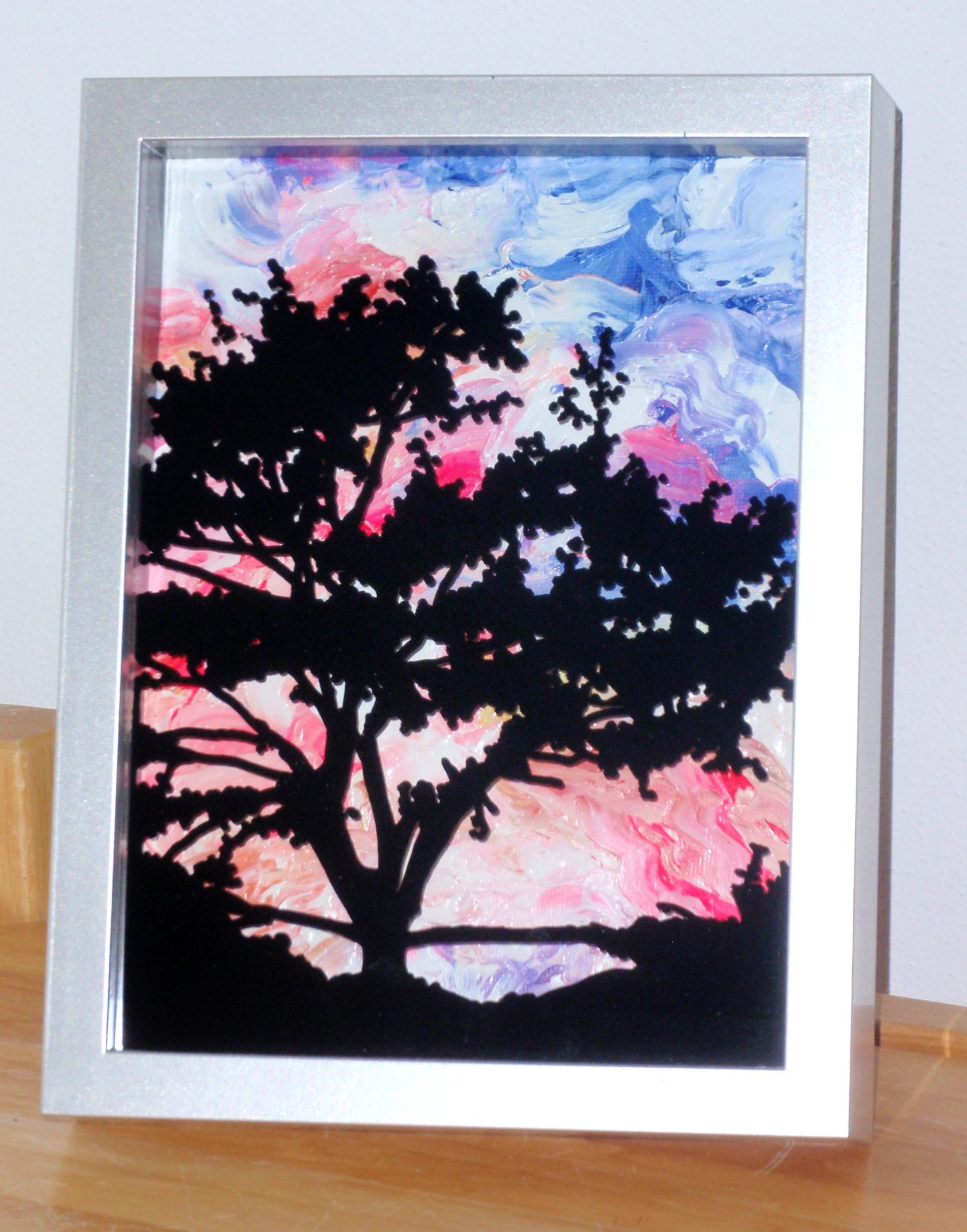 Silhouette Painting in Shadow Box
