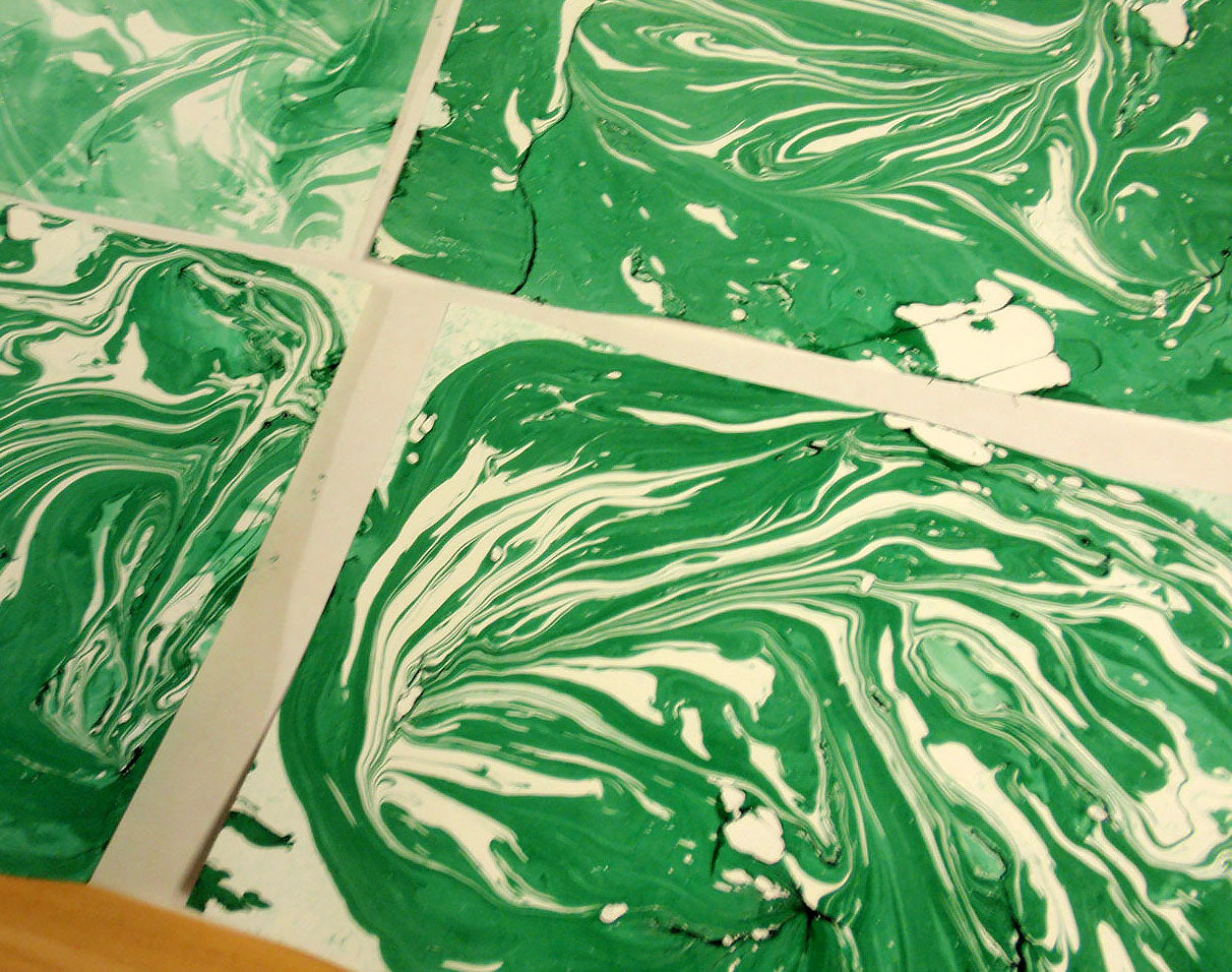 dry marbled papers