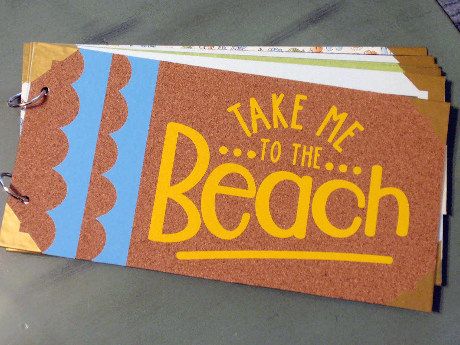 beach scrapbook album