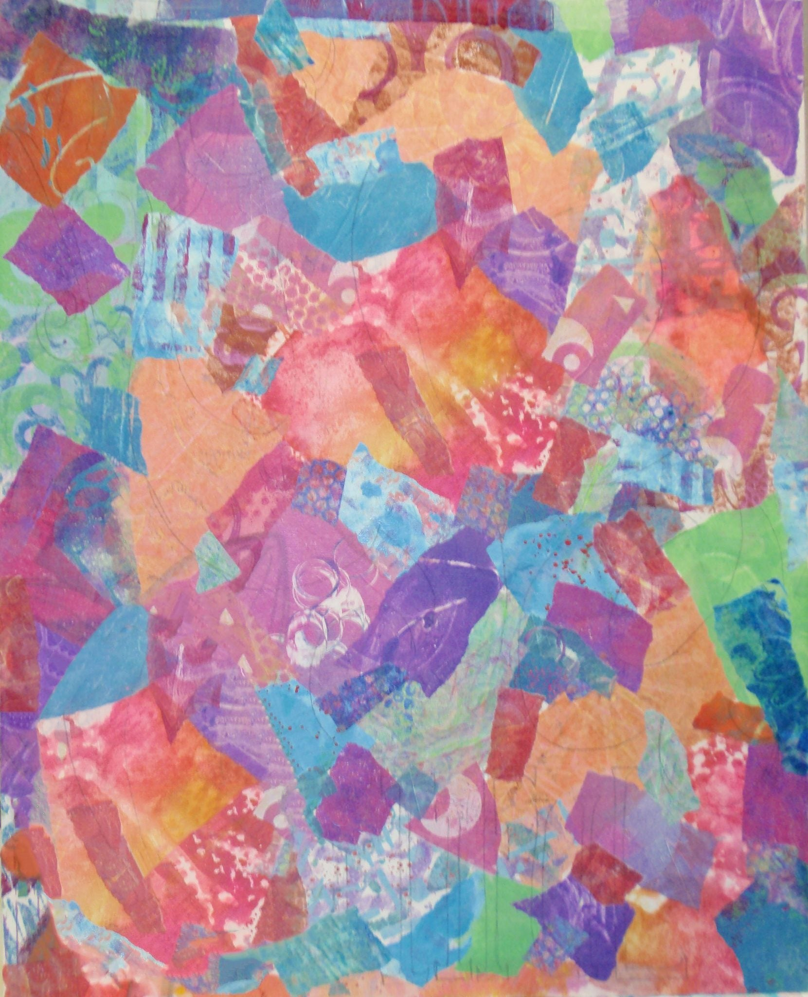 collaged papers