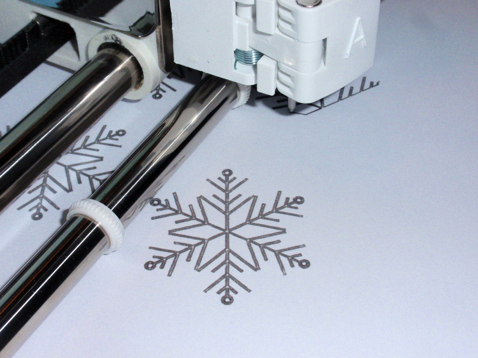 cricut drawing snowflakes