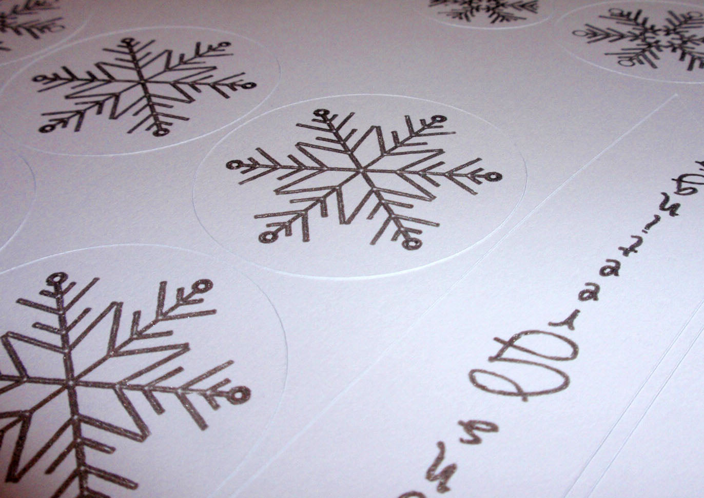 printed card embellishments