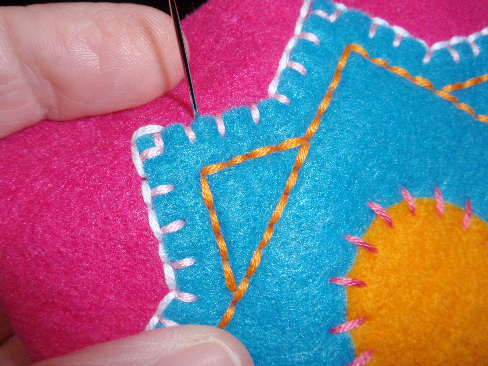 outline with back stitch