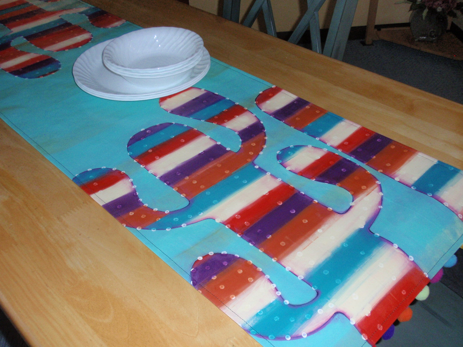 painted table runner