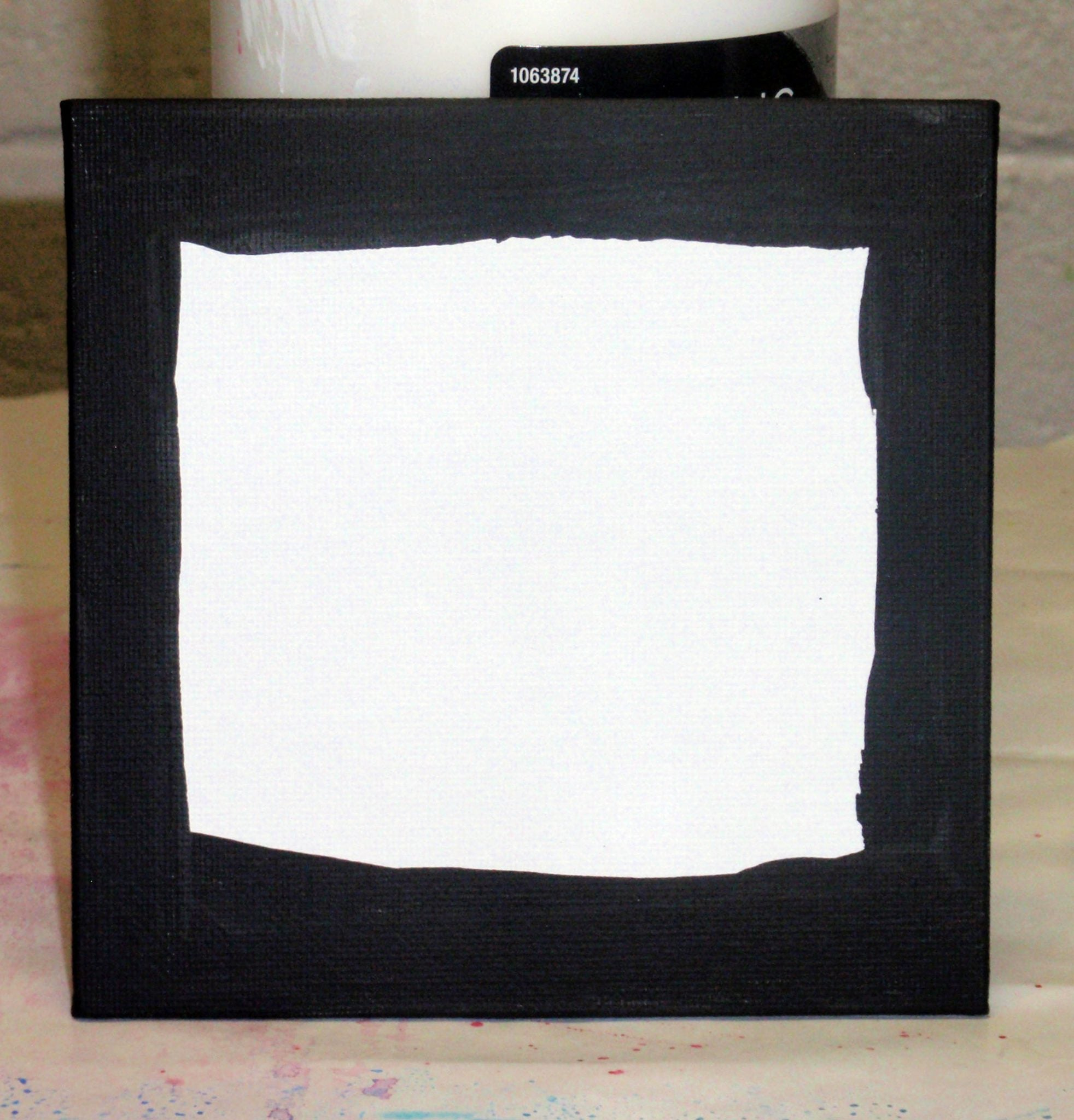 paint canvas board edges