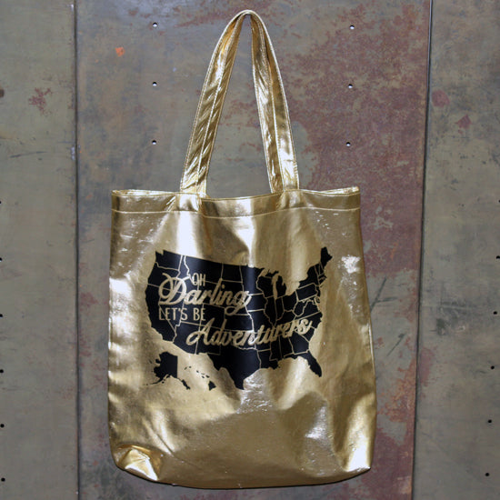 Let's be adventurers gold bag.