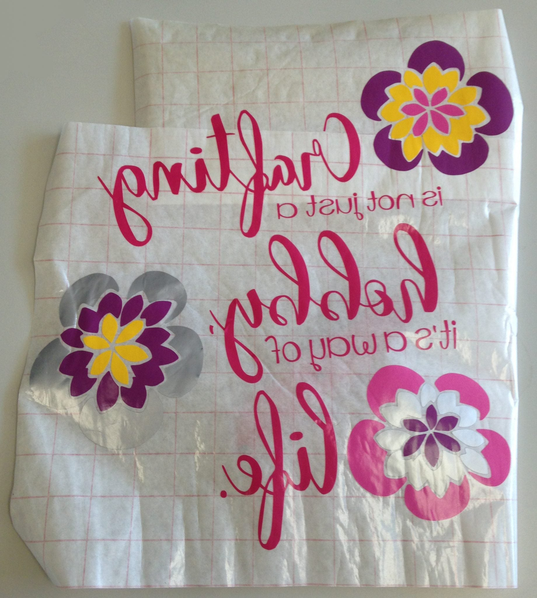add everything to transfer paper