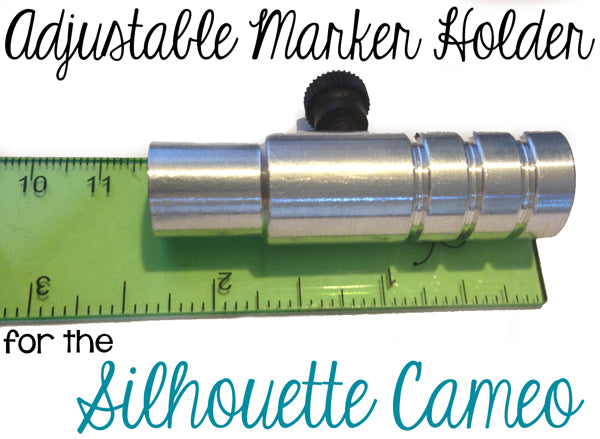 Try out the adjustable marker holder with your Silhouette Cameo and draw or sketch instead of cutting!