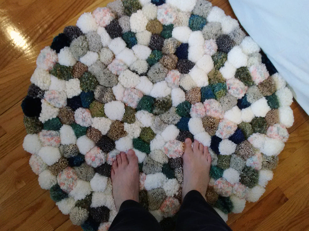 complete rug top view