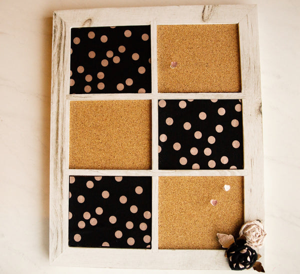 completed corkboard