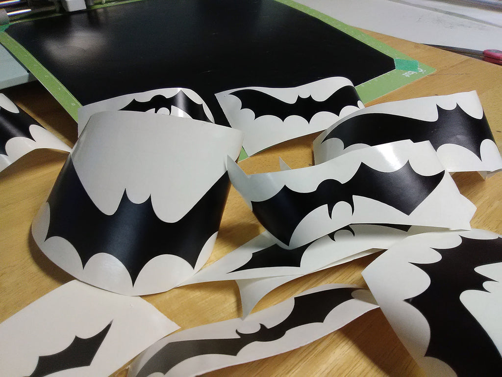 cut masks from removable vinyl