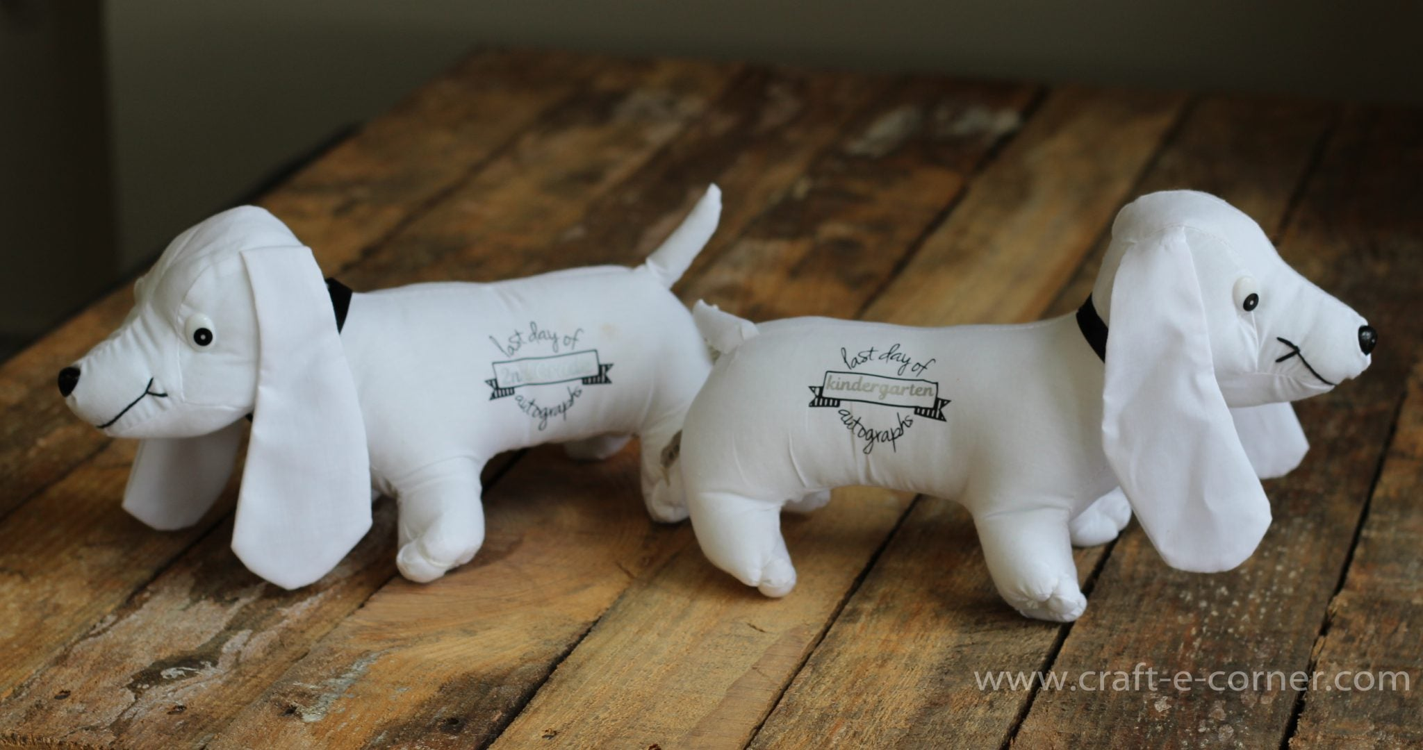 Learn how to heat press a stuffed animal! These cut dogs are perfect for the last day of school autographs!