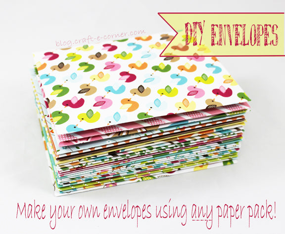 Never mail your cards with a plain envelope again. Make fabulous envelopes with the envelope punch board.