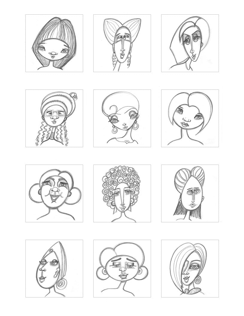 faces pattern