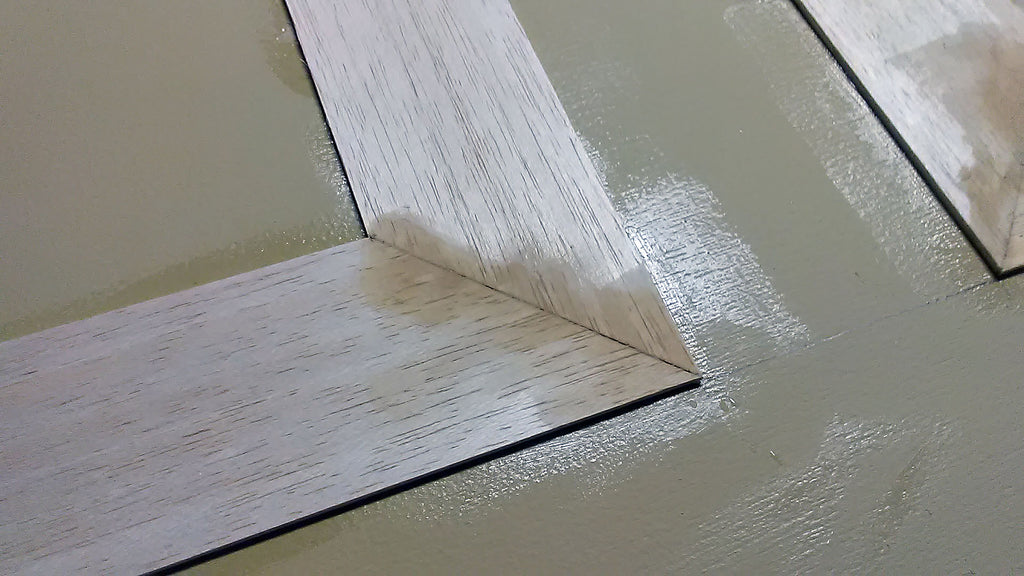 fill spaces with wood putty
