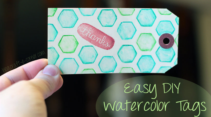 Use watercolor pencils to make a stunning thank you tag! Learn more here.