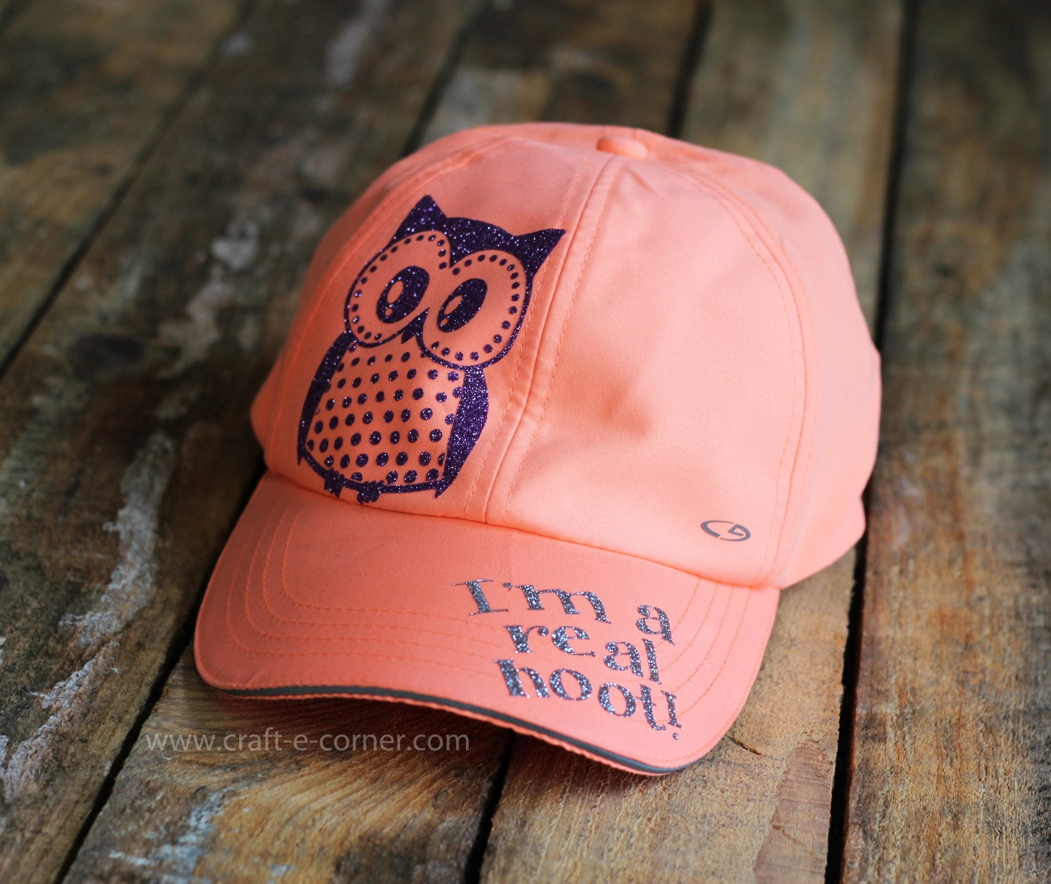 Tips and tricks on how to weed glitter heat transfer vinyl. Adding vinyl to a hat!