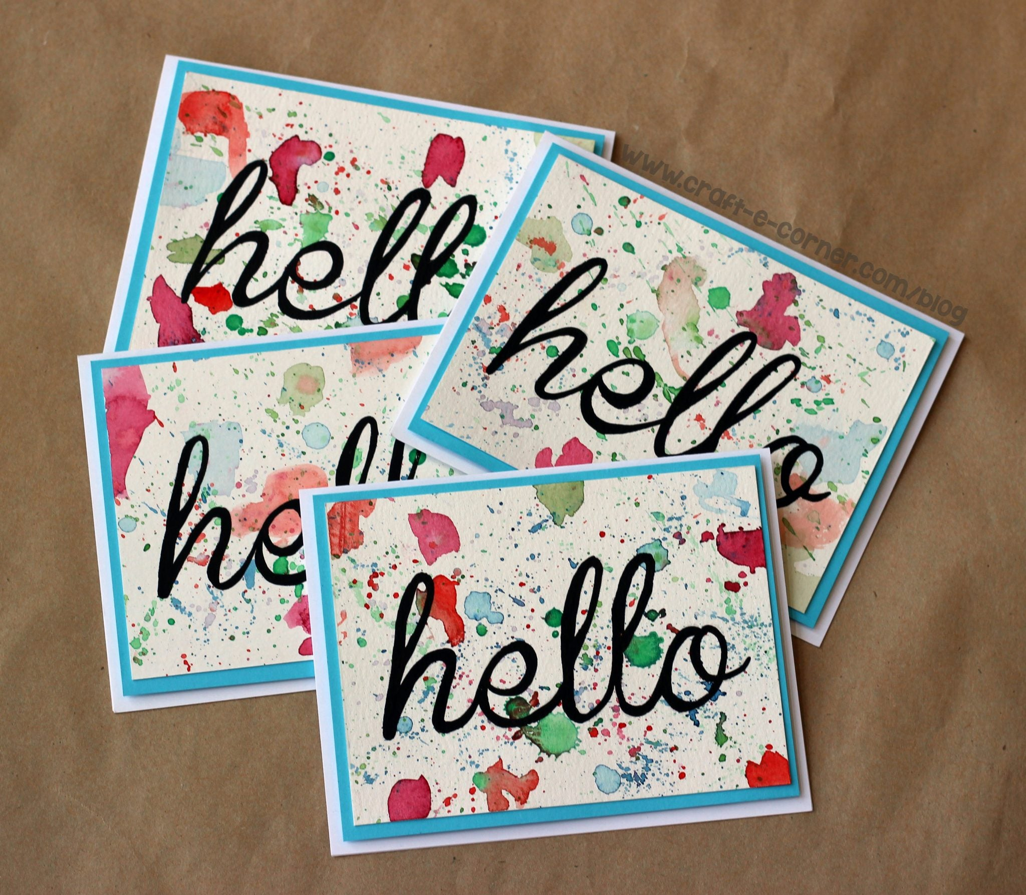 Make a watercolor card that everyone will love with this easy tip!
