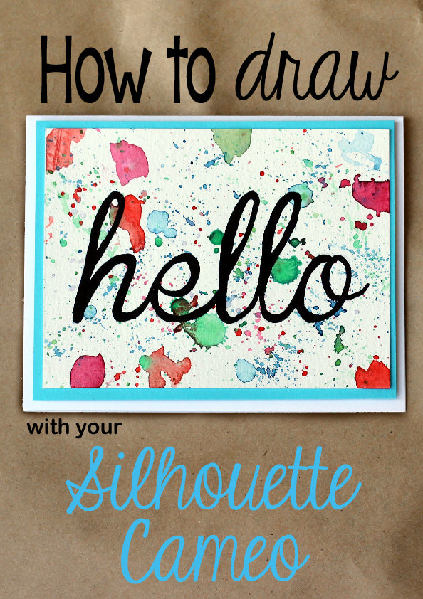 Use your Silhouette Cameo to easily make calligraphy on your cards.