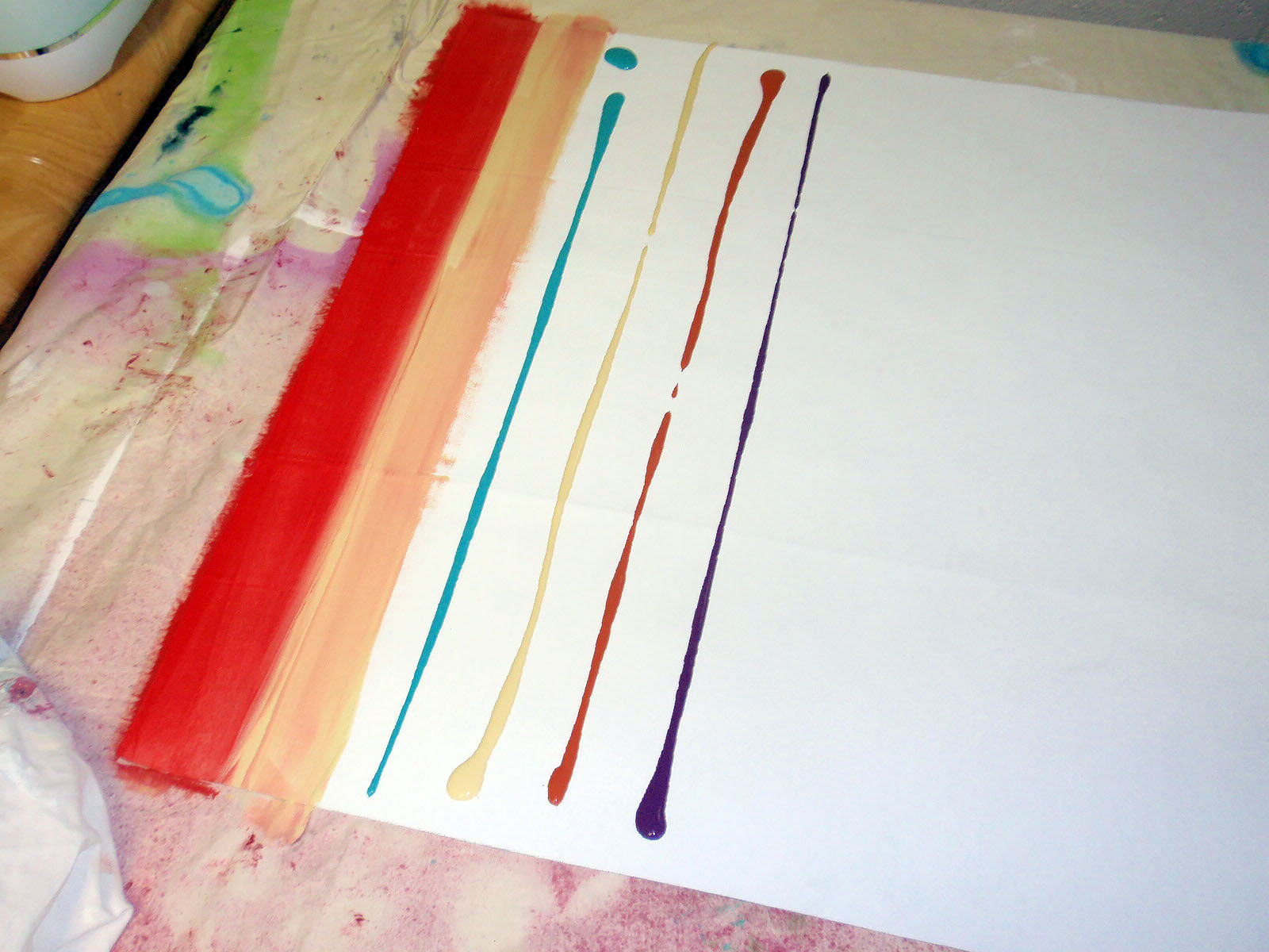 line of paint