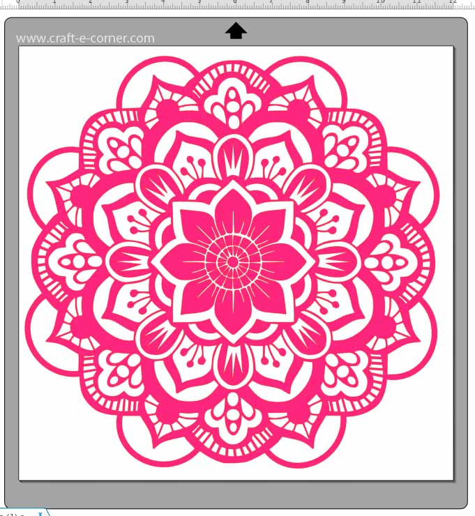 Exclusive mandala heat transfer vinyl design- LOVE this!