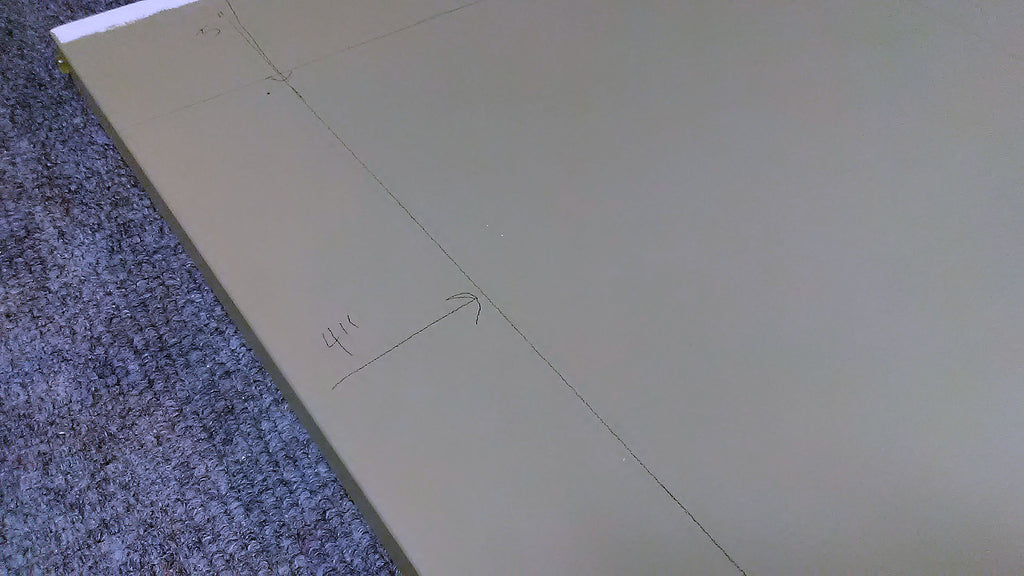 mark lines for board placement