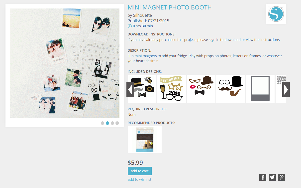 Use your Silhouette and Silhouette magnet paper to make this fun magnetic photo booth!