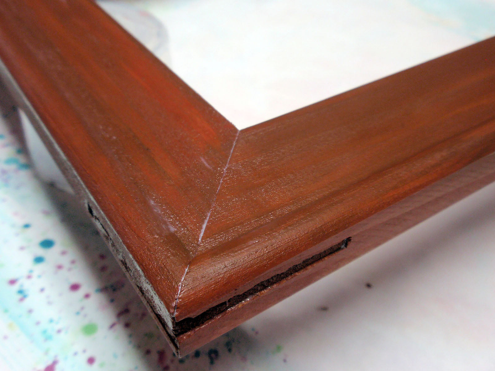 paint and varnish stretcher bars