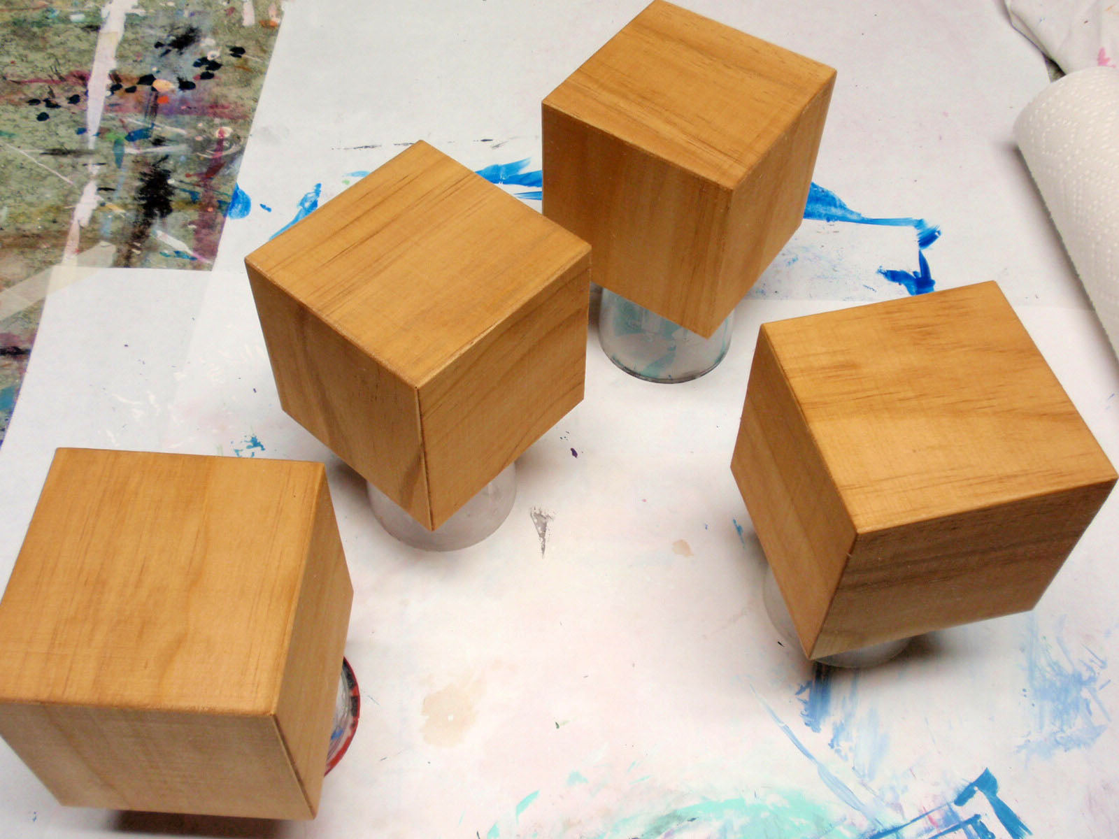 paint or stain blocks