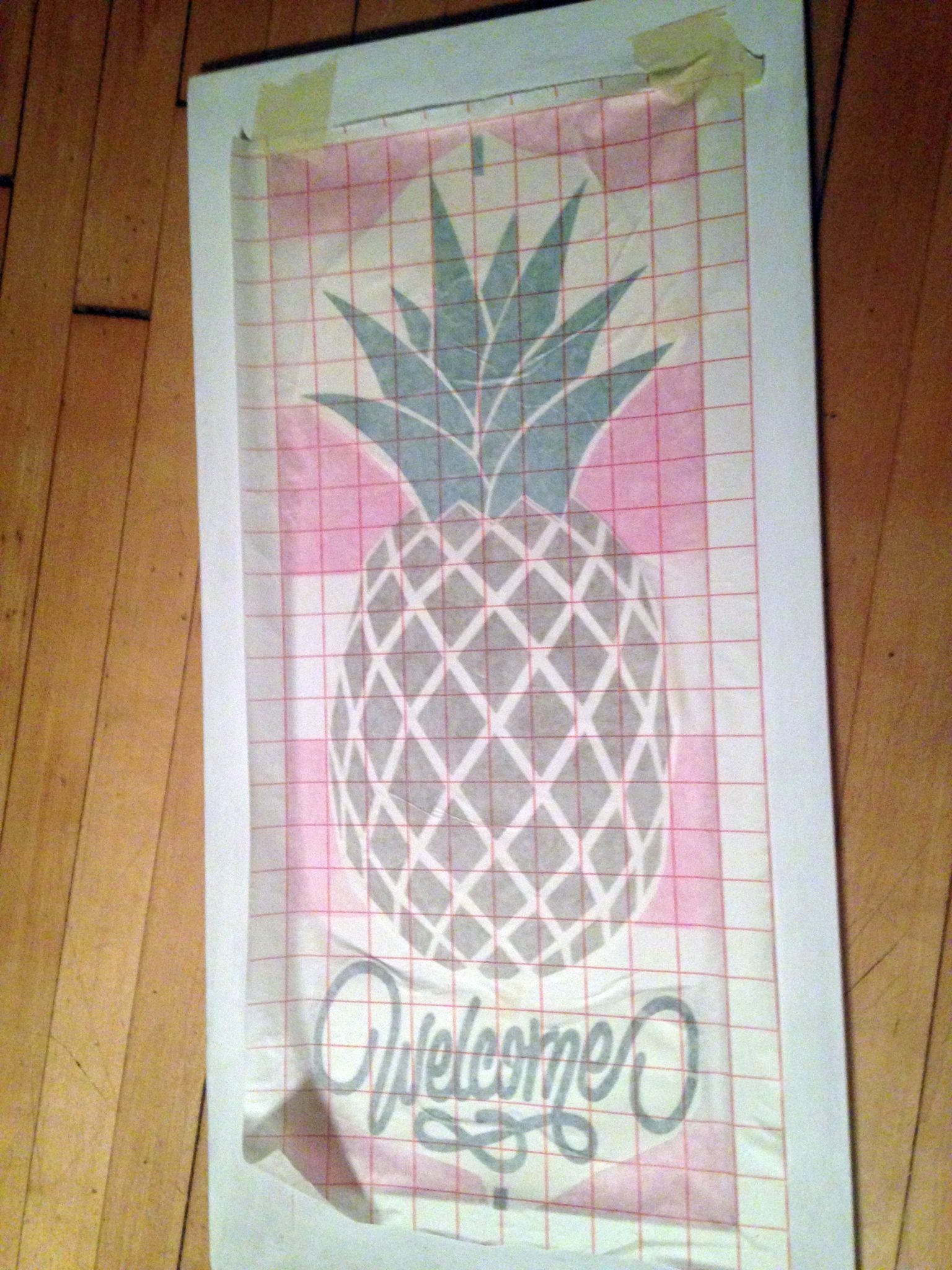 pick up all design pieces with transfer paper