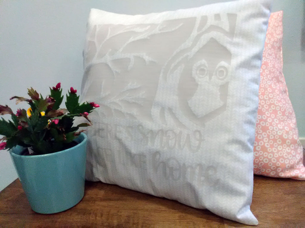 pillow on bench