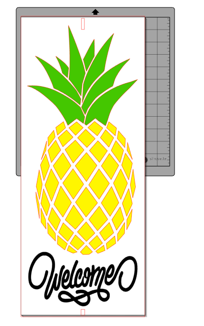 pineapple welcome sign cut file
