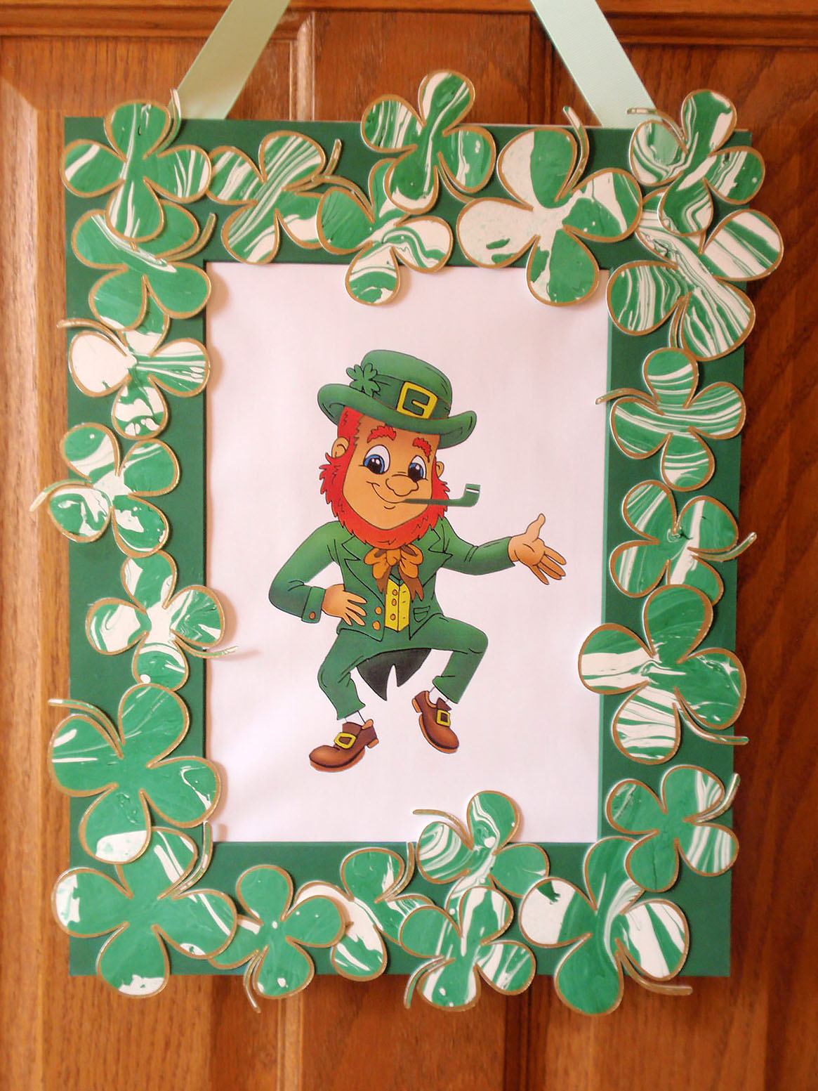 shamrock wreath complete