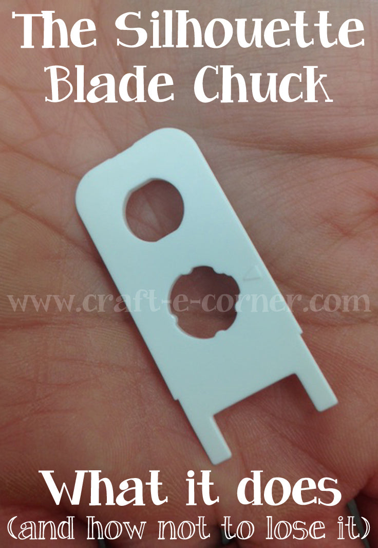 The Silhouette Cameo 3 Blade Chuck and how to remove the Bluetooth dongle.