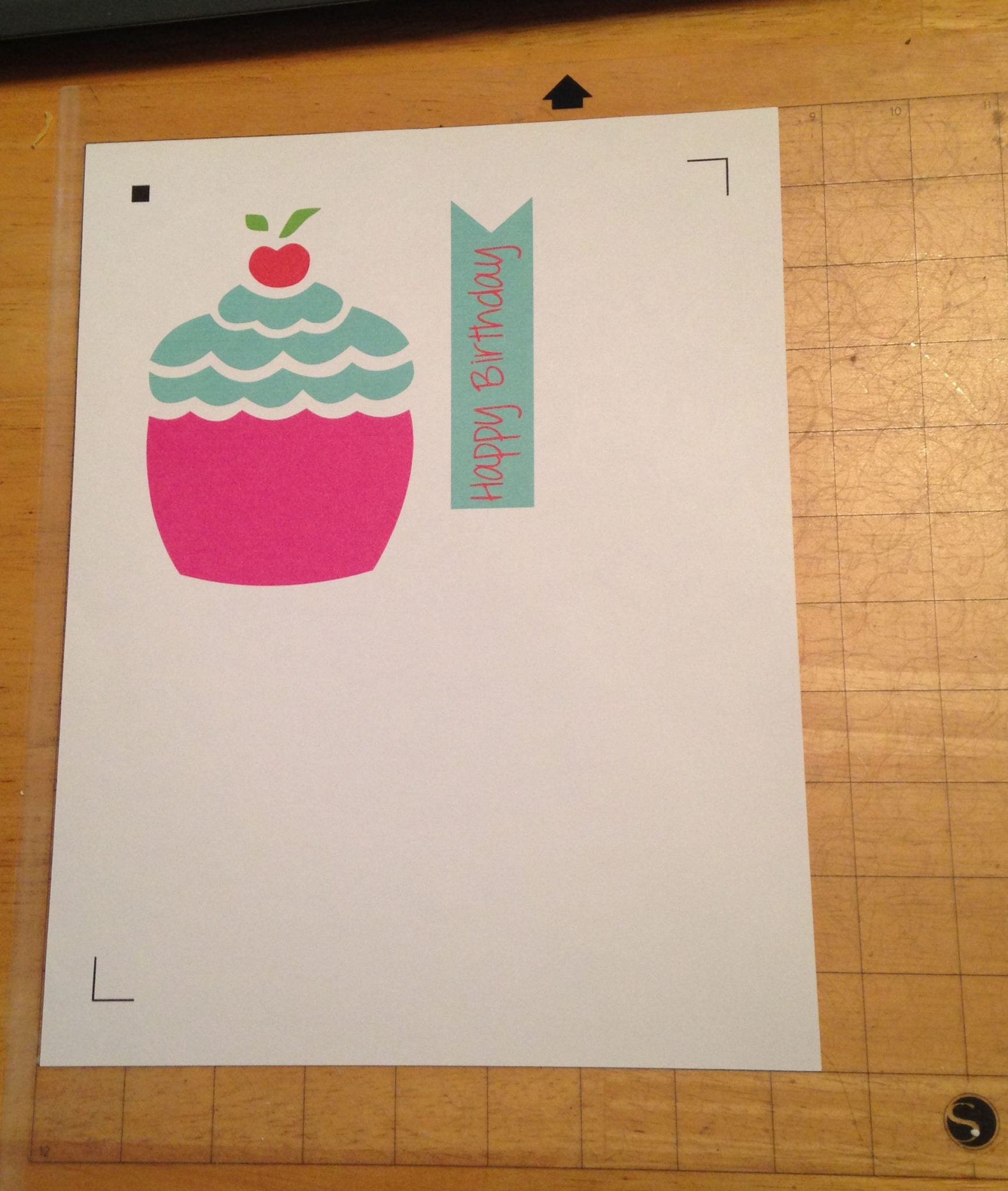 Once you print your design, you attach it to your mat.  The Print and Cut feature is SO EASY!