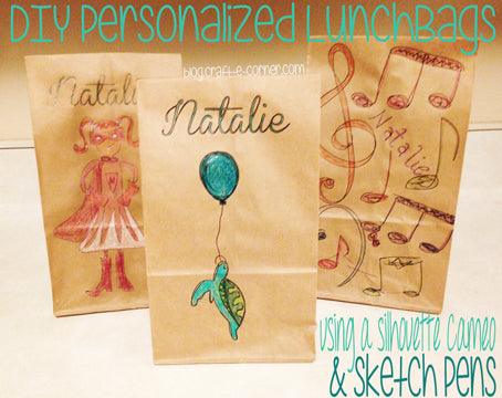 Use Silhouette Sketch Pens to make personalized lunch bags! Find out how!