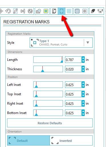 Great tutorial on how to use the Silhouette Print and Cut feature.  The first step is getting the registration marks in place with the Registration Mark window.