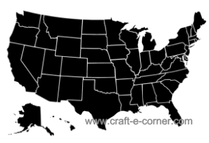 US Map design cut file. Each state pulls apart so you can show your state pride and create custom state designs!