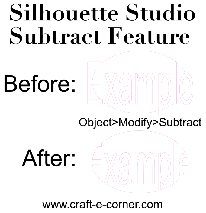 What the subtract feature in Silhouette Studio does!