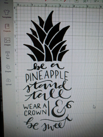 Pineapplet Cricut Design Space Image