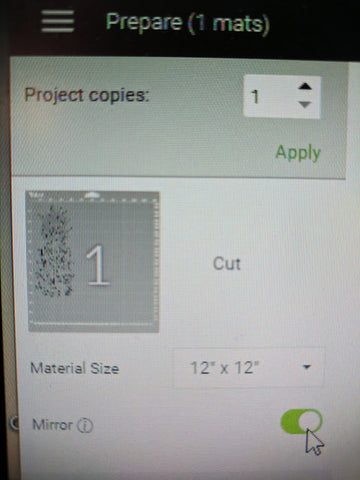 Cricut Design Space - Mirror Image