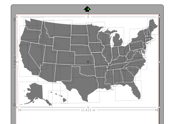 Ungrouping the state map will allow you to move the pieces of the map around and use just one state at a time.