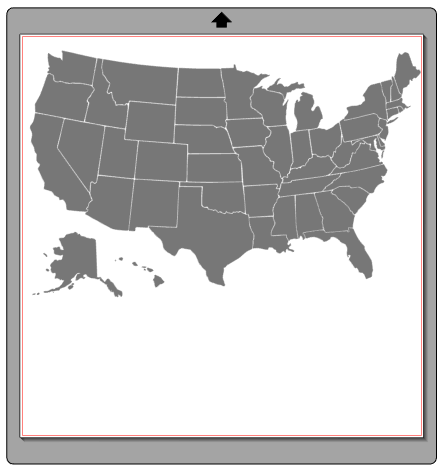 US State Map Silhouette Studio cutting file.