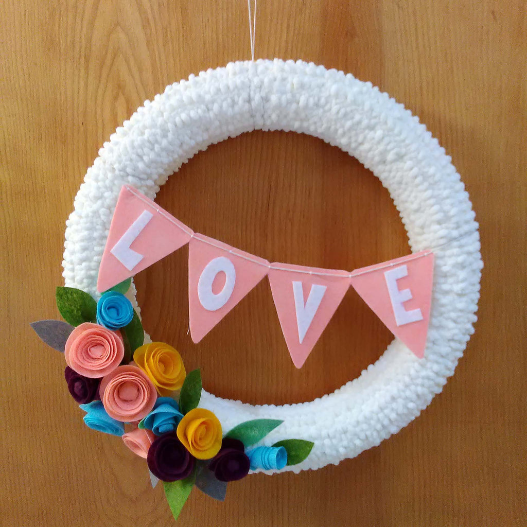 finished valentine's day wreath