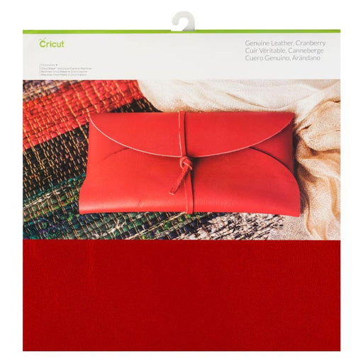 Cricut Genuine Leather Cranberry - www-craft-e-corner-com