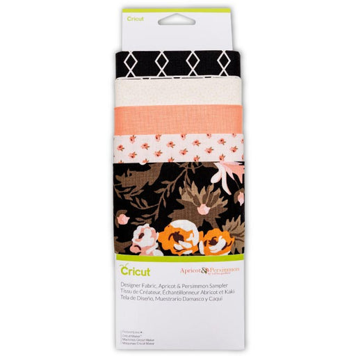 Cricut Designer Fabric Sampler Apricot & Persimmon - craft-e-corner.com