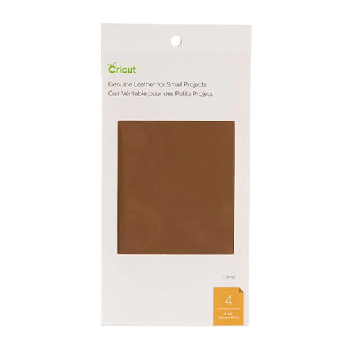 Genuine Leather for Small Projects - Camel, 3x6